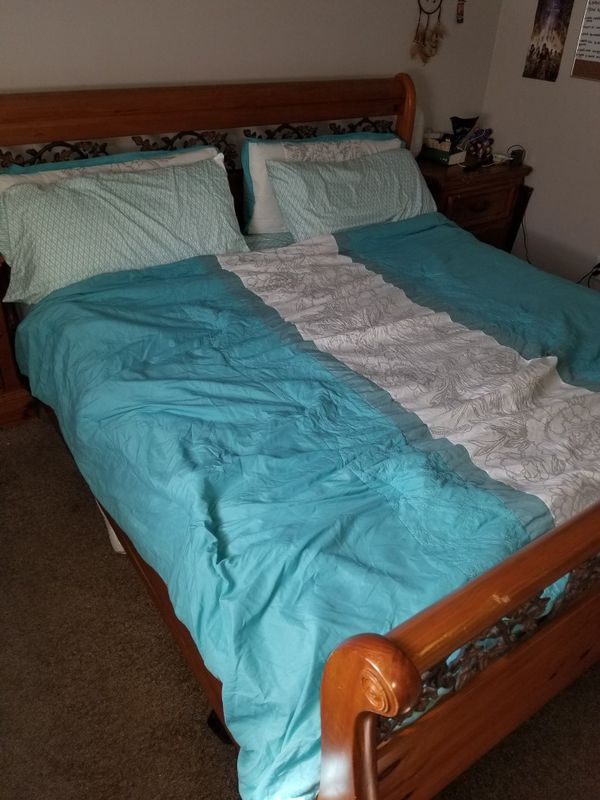 King bed frame and night stands