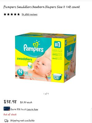 Pampers swaddlers newborn for Sale in Los Angeles, CA