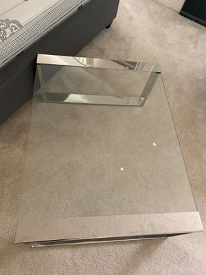 Modani clear glass table for Sale in West Hollywood, CA