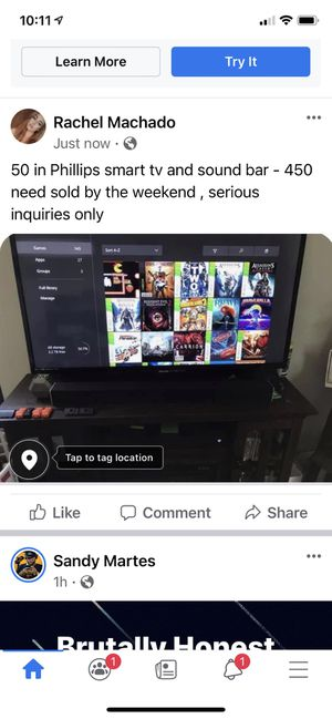 50 inch Phillips smart tv and vizio sound bar for Sale in Kissimmee, FL