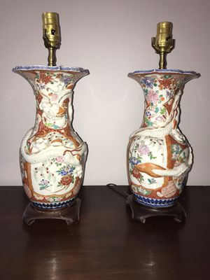 Pair of antique porcelain lamps for Sale in Seattle, WA