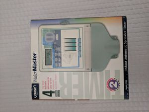 Orbit watermaster 57004 4 station indoor automatic water sprinkler controller timer. New in box for Sale in El Monte, CA