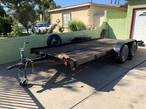 Trailer car hauler 16 ft cargo flat bed for Sale in Orange, CA