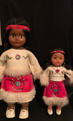 Vintage Native American Indian Dolls! Highly Collectible Baby Child Antique for Sale in Santa Clarita, CA