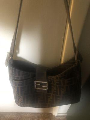 Vintage Fendi shoulder bag zucca gently used excellent condition for Sale in Chula Vista, CA