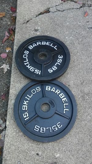 35 POUND OLYMPIC WEIGHT PLATES for Sale in Columbus, OH