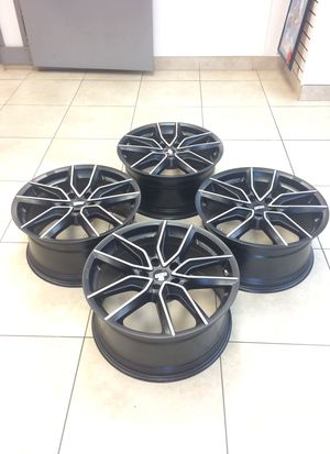 BBS XA0402 Black Rims with Machined Face 20x9.5 (+42) 5x120 Fantastic Condition for Sale in Boca Raton, FL