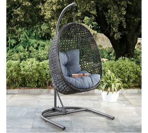 Better Homes & Gardens Lantis Patio Wicker Hanging Chair with Stand and Cushion Brand new !!!! for Sale in Modesto, CA