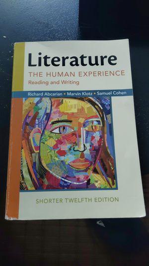 Literature the human experience 12th edition for Sale in Miami, FL