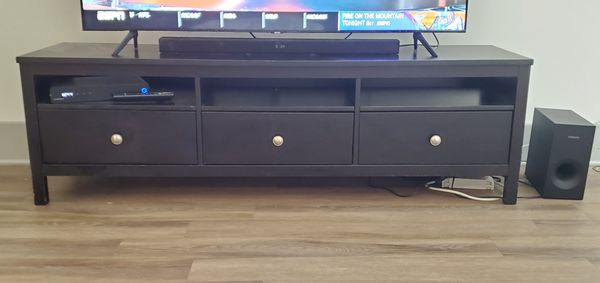 72 inch width TV stand entertainment center Solid Wood