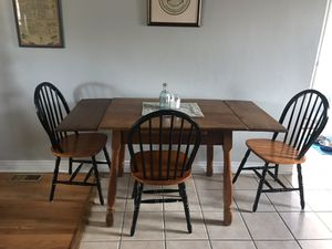 Dining room table with 3 chairs for Sale in Denver, CO