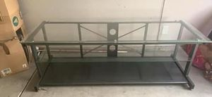 Glass and metal tv stand for Sale in Chico, CA