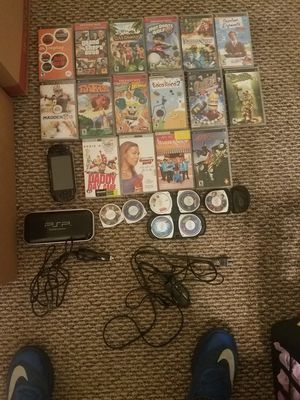 Psp with 19 games and 4 movies for Sale in Danbury, CT