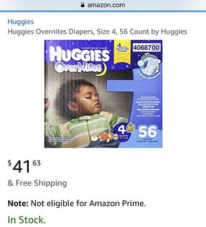 Huggie overnites size 4 for Sale in Piscataway, NJ