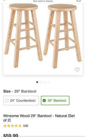 2 no's bar stools in good condition for Sale in Sunnyvale, CA