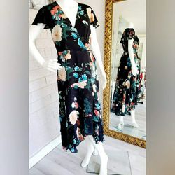 NEW Inc. Floral Print Design Black Peach Blue Flowy Dress Size 6 for Sale in San Jose,  CA
