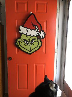 Grinch door hanger for Sale in Metropolis, IL