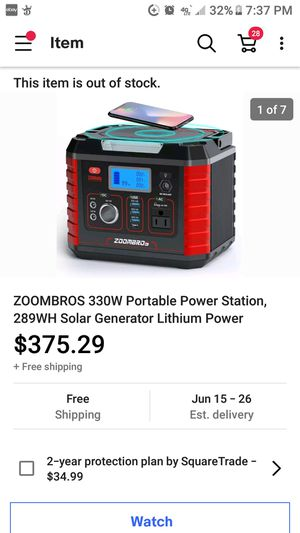 Zoombros Lithium Power 330W Portable Solar Generator for Sale in Austin, TX