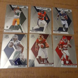 2020 Panini Mosaic Rookie Lot Of 6 Cards Mint condition Pick Up Fort Worth for Sale in Fort Worth, TX