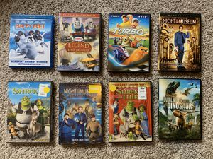 Set of 8 kids movies (7 DVD, 1 Blu-Ray) for Sale in Kenmore, WA