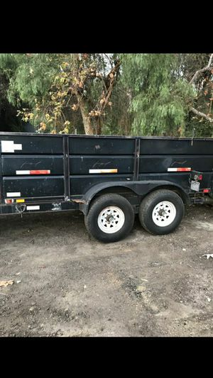 24 ft dually dump trailer front cage and ramps for Sale in Campo, CA