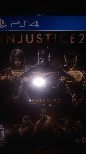 Injustice 2 legendary edition PlayStation 4 for Sale in San Bernardino, CA