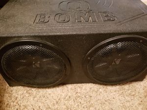 12inch speakers CVR kickers amp an pro box for Sale in Houston, TX