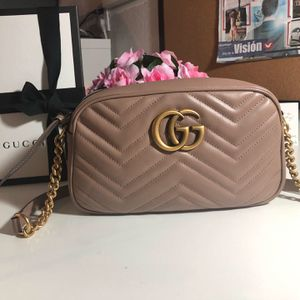 Gucci Marmont Small Camera Bag. Color Dusty Pink, it has Controllato number, dust bag, care instructions and Box. Price at the store $1,210.00 +Tax for Sale in Lutz, FL