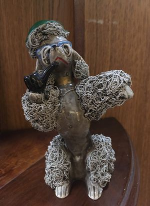 Vintage Grey Ceramic Poodle with Pipe for Sale in Chicago, IL