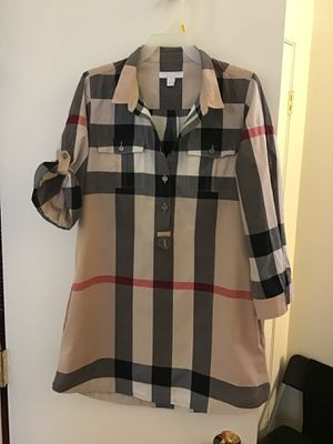 Authentic Burberry tunic/shirt/dress sz 12Y for Sale in WARRENSVL HTS, OH