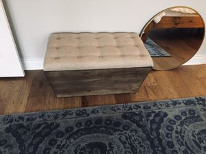 Ottoman storage chest from Kirkland store for Sale in Sun City, TX