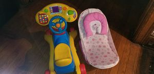 2 stages Car seats, rider & bouncer for Sale in Rochester, NY