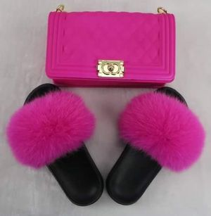 Real Fox MINK SLIDES 💕HOT piNK 🛍️ for Sale in Forest Park, IL