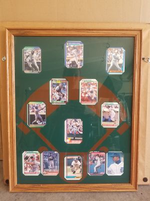 Baseball collectible cards with frame for Sale in Las Vegas, NV
