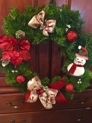 Door Christmas wreath for Sale in Shrewsbury, MA