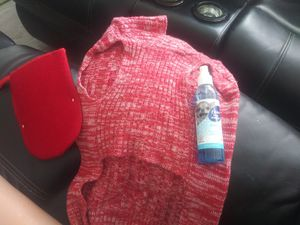 Dog cozzy shirt and ordor spray after showering pet for Sale in Wilmington, CA