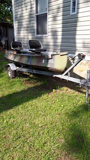 Boat & Trailer (Rebuilt trailer) for Sale in Wadley, GA