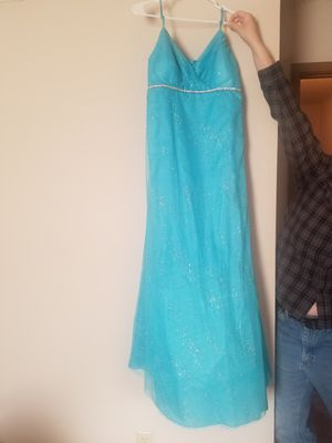 Size 12 Blue prom dress. Sparkles. Worn once. for Sale in Leland Grove, IL