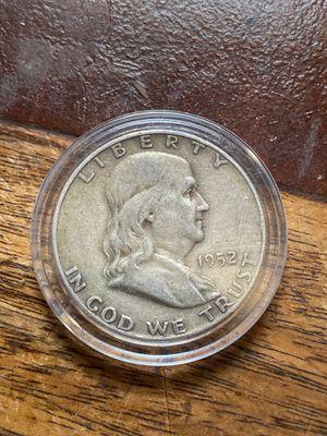 1952-p Franklin half dollar in capsule for Sale in Warwick, RI
