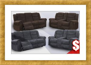 Grey or chocolate recliner set free delivery for Sale in Arlington, VA