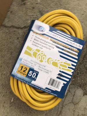 Outdoor extension cord 50 feet for Sale in Bassett, CA