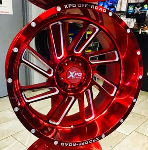 "NEW! 20"" SET OF 5 CANDY RED XPD Offroad Rims Wheels 5x5 Jeep Wrangler Chevy 20x10 Chrome BIG LIP Fuel XD Moto for Sale in Tampa, FL"