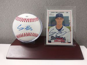 Los Angeles Dodgers Cody Bellinger Autograph Baseball and Autograph Tulsa Drillers Rookie Card c.o.a by PSA/DNA and Beckett for Sale in South El Monte, CA