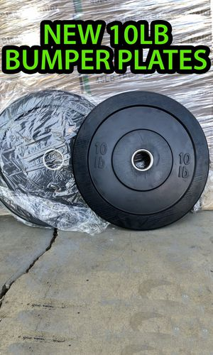 New 10lb olympic bumper plates weights 100% rubber New for Sale in Fullerton, CA