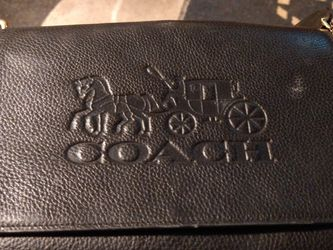 """Coach Jes Messenger Crossbody Horse& Carriage IM/Black Pebble Leather Hand Bag ,F72703 Size 11""""(L)+ 71/4""""(H)+3""""(W) for Sale in Las Vegas,  NV"""