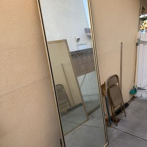 Sliding Mirror For Bedroom Or Use As Standing Mirror for Sale in Huntington Beach, CA