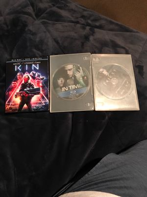 Blue Ray Movies ( Kin, In Time, Priest) all work for Sale in Vancouver, WA