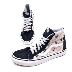 Vans Sk8-Hi Womens size 9.5 mens 8 Floral pattern.Pre Owned.$40 OBO! for Sale in Seattle, WA