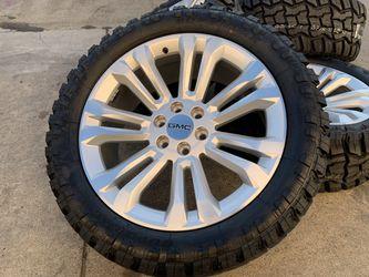 "22"" GMC Sierra Yukon Denali Wheels Cadillac Escalade 6x5.5 Rims Tires for Sale in Rio Linda,  CA"