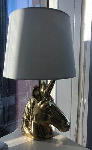 Gold unicorn table lamp for Sale in Chicago, IL